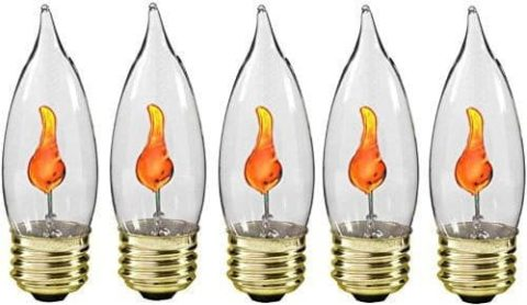 flicker flame candle bulb
